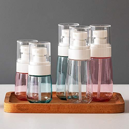 5 Pieces Travel Bottles, 30ml50ml Refillable Bottles Cap Empty Bottle for Alcohol Liquids, Clear Glass Bottle Container (5PCS 100ml)