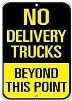 このポイントを超える配達用トラックはありません金属スズサイン工業用サイン安全サイン