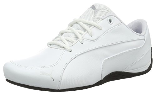 Puma Unisex Drift Cat 5 Core Sneakers, White, 42 EU