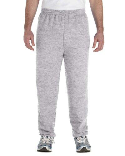 Gildan Men's Heavy Blend Elastic Waistband Drawcord Sweatpant, Sport Grey, Large