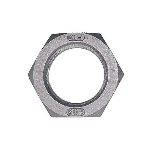 ooege Rosca Hembra de Acero Inoxidable Hexagonal Tuerca de instalación de tuberías del Conector Adaptador de Acoplamiento (Thread Specification : 1 1/4')