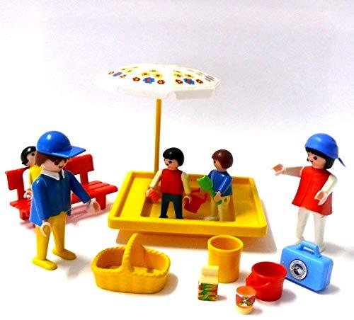 playmobil ® - Kinder Spielplatz Sandkasten Sonnenschirm Kinder Mutter1