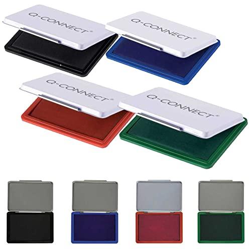 Q-Connect 9x5,5cm 4 Farben, schwarz blau rot grün Bild