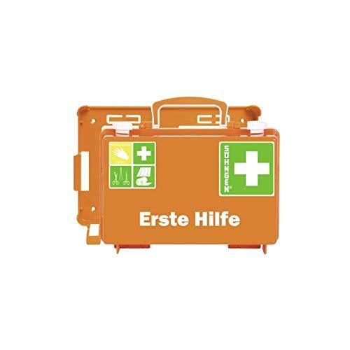 *Söhngen Erste-Hilfe-Koffer QUICK-CD (mit Füllung Standard DIN 13157, mit Wandhalterung, Koffer plombierbar) orange, 0301125*