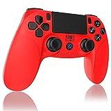 【2021年の最新版】PS4 コントローラー Bluetooth接続 Aerku 最新版システム対応 HD振動 重力感応 タッチボタン タッチパッド イヤホンジャックスピーカー 充電ケーブル 付き DualShock 4 PlayStation 4 / PS3 対応 日本語取扱説明書