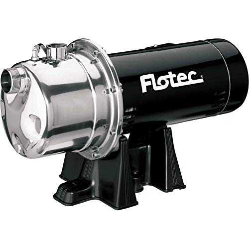 Flotec Stainless Steel Shallow Well Jet Pump 1 HP, FP4832-08