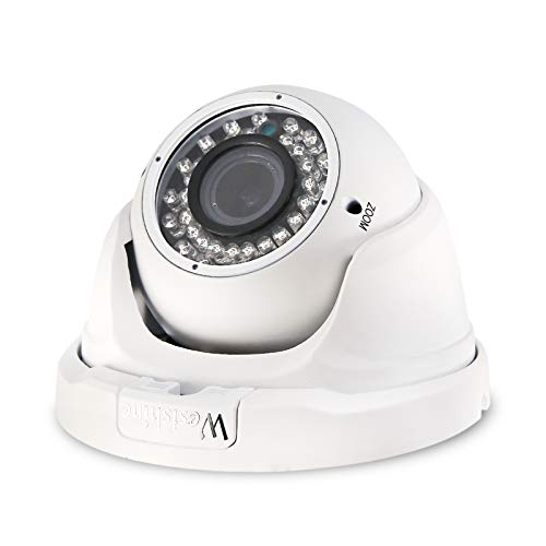 Westshine Cámara de Seguridad Domo AHD de 5MP con Lente varifocal de 2,8mm a 12mm, TVI/CVI/AHD/CVBS 42 IR Leds Cámara de vigilancia para Exteriores de visión Nocturna de 130 pies (varifocal de 5MP)