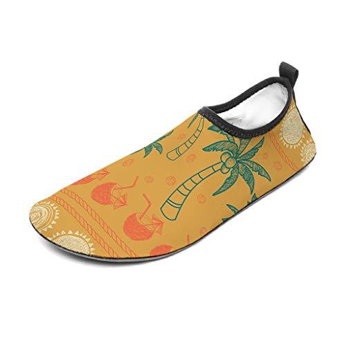 Zapatos de playa, zapatos de baño, zapatos de agua, calcetines, calcetines, sol, verano, playa, árboles, estampados, zapatos de natación, agua, descalzo, yoga, zapatos, Unisex, blanco, 42/43