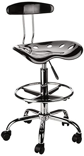 Flash Furniture Drafting Stool, Black, 50.8 x 43.82 x 104.14