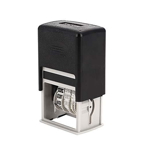 YUYDYU Timbro Mini Data autoinchiostrante, Timbro numerico 4 mm, Giorno/Mese/Anno valido per 11 Anni