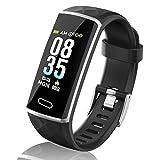 LOZAYI Pulsera de Actividad, Pulsera Actividad Inteligente, IP67, Reloj Inteligente para Mujer y Hombre, con Pulsómetro, Blood Pressure, Monitor de Sueño, Podómetro, para Android y iOS Teléfono Móvil