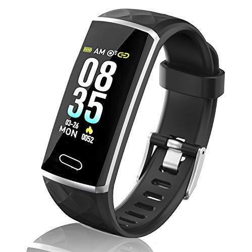 Pulsera de Actividad, LOZAYI Pulsera Actividad Inteligente, Reloj Inteligente Pantalla Color 0.96' Pulsómetro Presión Arterial Pulsera Actividad Impermeable IP67, Adapta Android iOS Teléfono