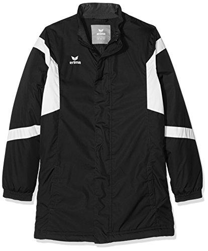 Erima 1066 Veste Classic Team Mixte Enfant, Noir/Blanc, FR : XS (Taille Fabricant : 152 cm)