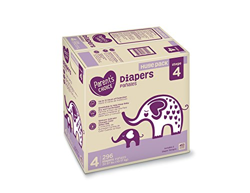 Parent's Choice Diapers, Size 4, 296 Diapers (Mega Box)