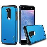 JundD Kompatibel für LG X Power 2 Hülle, [ArmorBox] [Doppelschicht] [Heavy-Duty-Schutz] Hybrid Stoßfest Schutzhülle für LG X Power 2 - [Nicht für LG X Power/LG X Power 3] - Blau