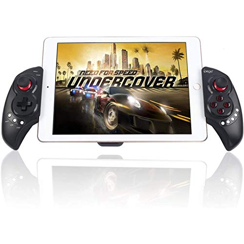 """Mobile Game Controller, PowerLead PG9023S Wireless Gamepad Gaming Trigger Game Controller Compatible with 5-10"""" iOS/Android Phone PC Tablet (Does not Support Above ios13.4)"""