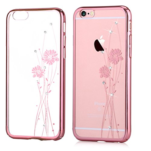 Funda Swarovski para iPhone 6/6S Crystal Ballet Rose Pink