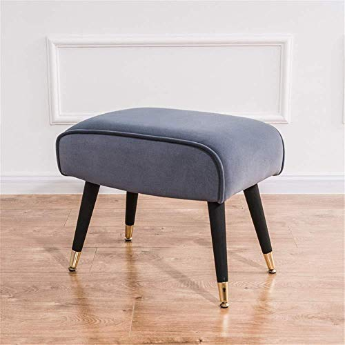 Storage Benches Shoe Bench Pouffe Stool Ottoman Foot Stool Soft Compact Padded Stool Great For The Living Room Bedroom And Kids Room For Shoes Wearin (Color : Gray, Size : 52×33×45)