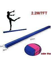 220 cm / 7.2 pies Equilibrio Beam de Entrenamiento de Gimnasia,Balance Beam de Gamuza Sintética Plegable, Ejercicio de Entrenamiento Deportes en Casa o Gimnasia