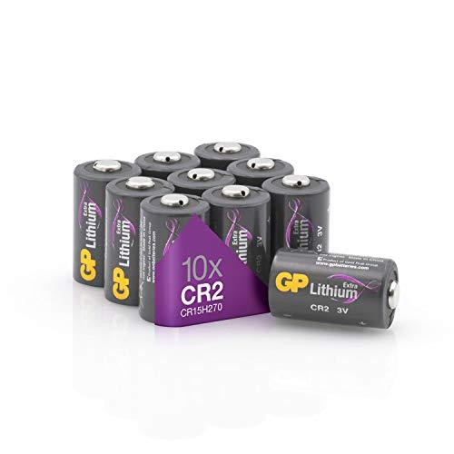 GP Batterien CR2 3V Lithium Extra Series (10 Stück CR2 Batterien 3 Volt) für Digitalkameras, Camcorder, Rauchmelder, Taschenlampen, Laserpointer und vieles mehr (in plastikfreier Verpackung)