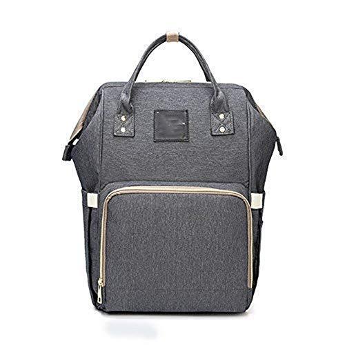 Wickeltasche, multifunktionaler wasserdichter Reise-Rucksack für Baby-Pflegeartikel, großes Fassungsvermögen, stilvoll und strapazierfähig, Grau