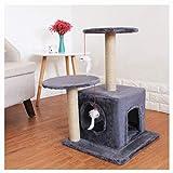 jixi Árbol para gatos de 64 cm, soporte para gatos, rascador para gatos, torre de juego con condominio, juguete para gatos medianos y pequeños (color: C)