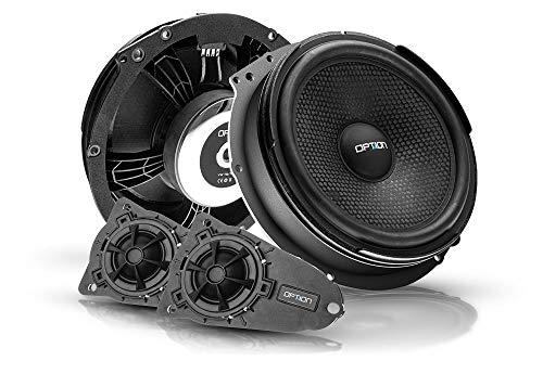 OPTION AIR Front Lautsprecher-System kompatibel mit VW T5/T6-100% Plug & Play System - 2-Wege Komponenten-System - 100 Watt RMS, 91 dB Wirkungsgrad