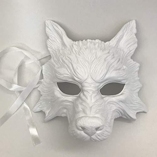 MasqStudio White Wolf Mask Animal Masquerade Halloween Costume Cosplay Party mask