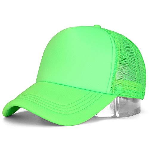 1 Uds, Gorra Unisex Informal, Gorra de béisbol de Malla Lisa, Sombreros Ajustables para Mujeres y Hombres, Gorra de Camionero de Hip Hop, Gorra de papá-Green-54cm-60cm