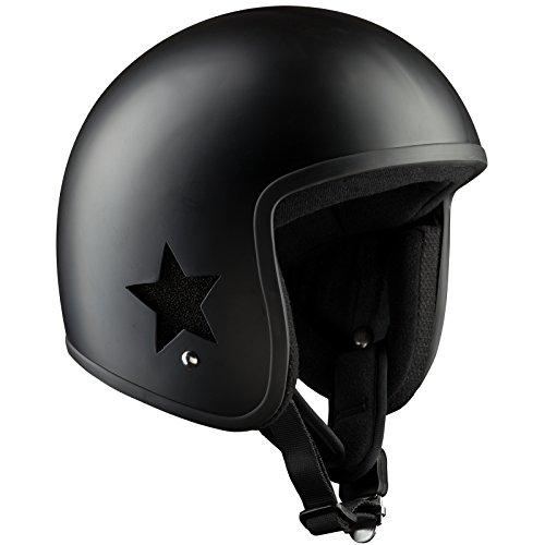 Bandit Helmets Sky II Jethelm, Motorradhelm mit eigenem Design, Sports-Farbe:matt schwarz;Größe:S (55-56)