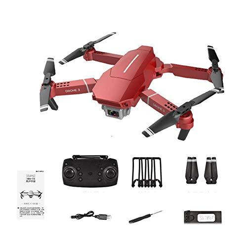 ZHCJH Dronewith1080P HD Camera Video en Vivo 120°WiFi Gran Angular RCNano Quadcopter con retención de altitud, Modo sin Cabeza, Volteretas 3D, Retorno de una tecla y Ajuste de Velocidad Rojo 4K