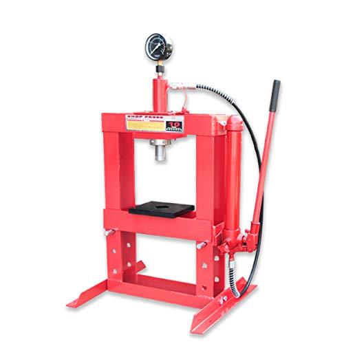油圧プレス 最大能力10t 門型 シリンダータイプ ショッププレス プレス機 ベアリング圧入 卓上 鉄板等の歪...