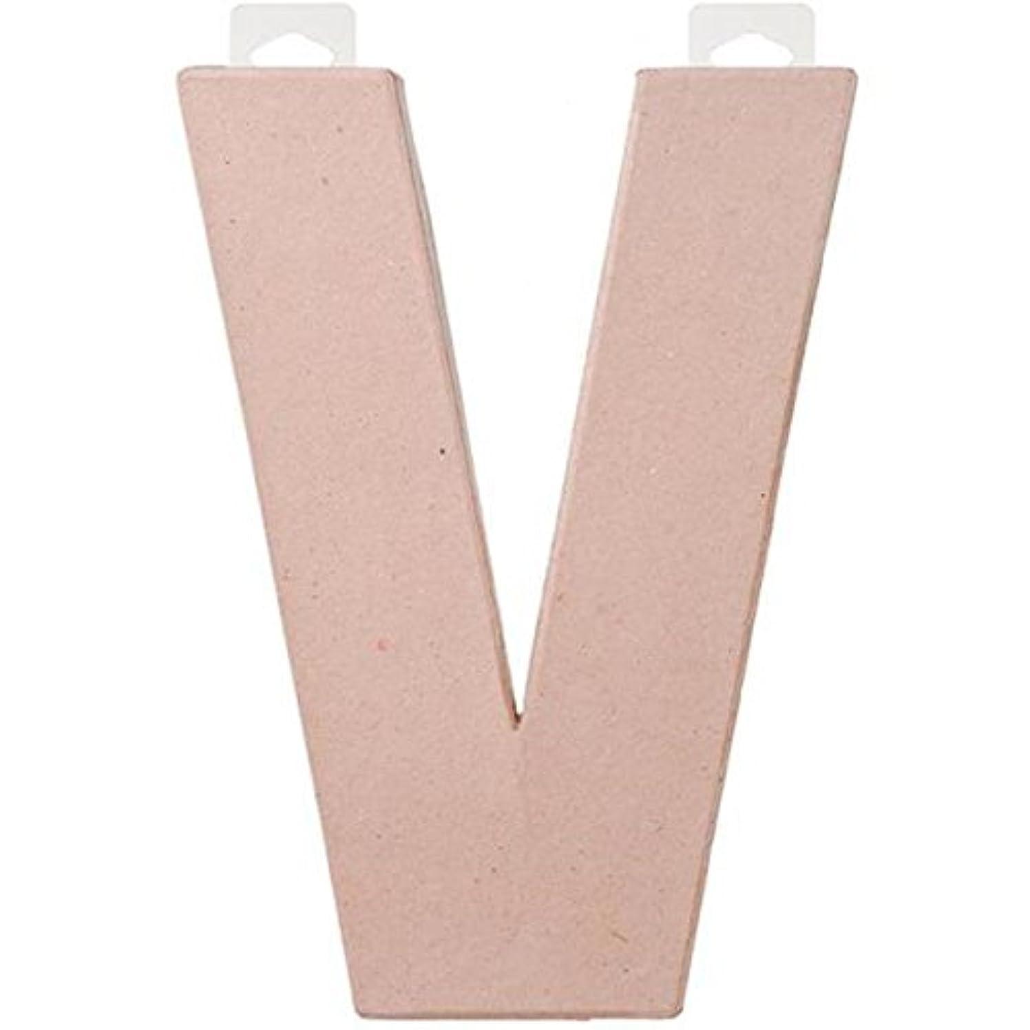 Darice 8 inches Paper Mache Letter - V, 8-Inch