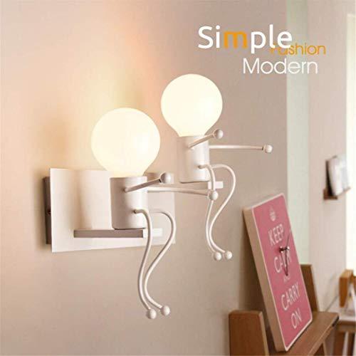 CC6 plafondlamp nordic eenvoudige led nachtlampje dubbele hoofd moderne creatieve persoonlijkheid slaapkamer Aisle trap gang kinderen muur lamp