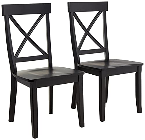 """Homestyles Dining Chair Pair Classic, 18-4/5"""" W, 22-1/4"""" D, 38-3/8"""" H, Black"""