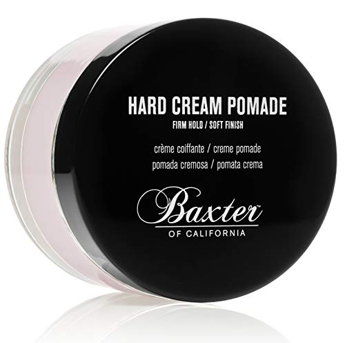 Baxter of California Hard Cream Pomade Firm Hold Natural Finish, 2 oz