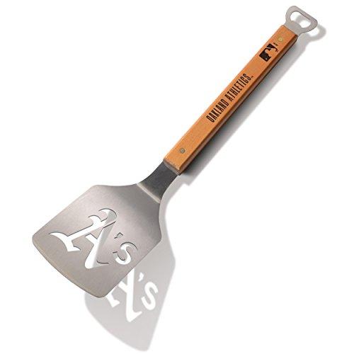 Best Deals! MLB Oakland Athletics Sportula, Heavy Duty Stainless Steel Grilling Spatula