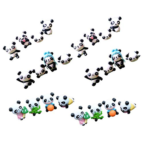 B Blesiya 24pcs Mini Animal Miniature Panda Décoration Bonsai Micro Paysage Maison de Fée