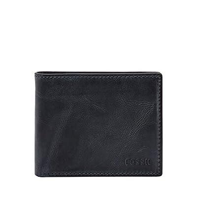 """Fossil Men's RFID Flip ID Bifold Wallet, Navy, 4.5""""L x 0.75""""W x 3.56""""H"""