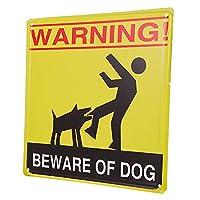Balacoo は犬看板ブリキ警告注意犬サイン立ち入り禁止サイン天気耐フェードため庭屋内屋外使用