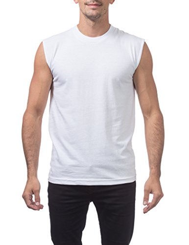 Pro Club Men's Comfort Muscle Tee, Snow White, X-Large