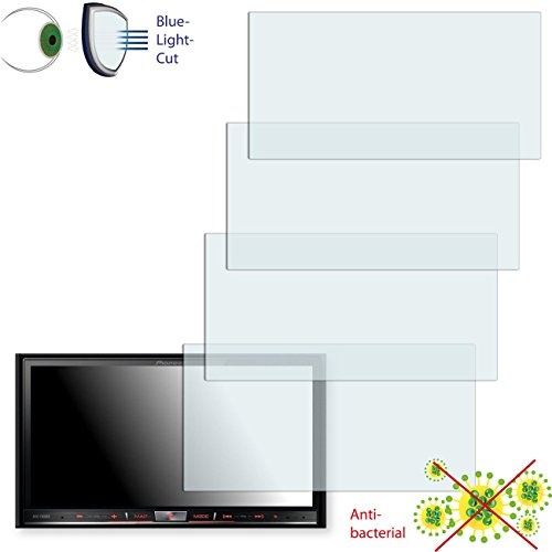 Disagu 4 x ClearScreen Displayschutzfolie für Pioneer AVIC-F60DAB Anti-bakteriell, BlueLightCut Filter Schutzfolie