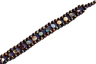 """7.5"""" strand natural australian boulder opal 6.5 mm rondelle smooth beads - sale - very rare natural gem australian boulder opal 6.5mm coin & 5mm size round smooth beads 7.5 inch complete bracelet with silver locks"""