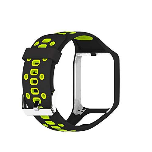 Tom Tom Uhrenarmbänder,Tomtom Runner 3 Armband/Runner 2/Spark 3/Adventurer/Golfer 2 Uhrenarmband Silikon Uhrenbänder für Tomtom Watch