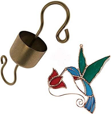 Skinny Ant Moat and Stained Glass Hummingbird Suncatcher Bundle Idea for Hummingbirds Lovers!