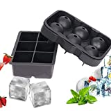 Eis Rod Mold Eiswürfelschalen Silikon 2er-Set Kugel-Eismaschine