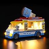 iCUANUTY Kit de Iluminación LED para Lego 60253, Kit de Luces Compatible con Lego City Great Vehicles - Camión de los Helados (No Incluye Modelo Lego)