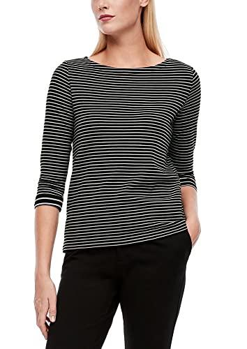 s.Oliver Damen Shirt mit Ringelmuster black stripes 40