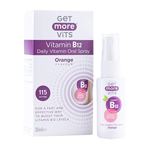 Get More Vits - Vitamin B12 Oral Spray Supplement, Vegan Friendly, 115 Servings, 30ml