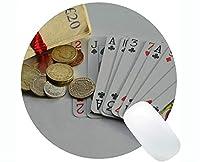 ゲームラウンドマウスパッド、ドルカードキャピタルパーソナライズされた長方形ゲームラウンドマウスパッド